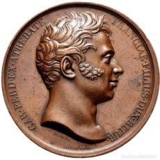 Medallas históricas: FRANCIA. MEDALLA CONMEMORATIVA DEL ASESINATO DEL DUQUE DE BERRY. 1.820. BRONCE. Lote 277235983