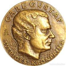 Medallas históricas: SUECIA. MEDALLA CARLOS GUSTAVO XVI. 1.971. BRONCE. Lote 277282388