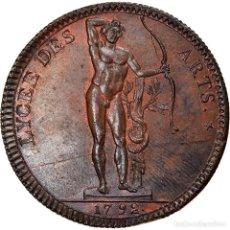 Medallas históricas: [#867311] FRANCIA, TOKEN, LYCÉE DES ARTS, 1792, SC+, COBRE. Lote 278211268