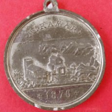 Medallas históricas: MUY RARA MEDALLA CONMEMORATIVA MIRAMAR 1876. MALLORCA RAMON LLULL.. Lote 278615998