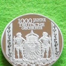Medallas históricas: MONEDA MEDALLA CONMEMORATIVA. 1000 AÑOS ALEMANA. NO FÉRREA. MIRAR FOTOS. ENCAPSULADA. Lote 280843508