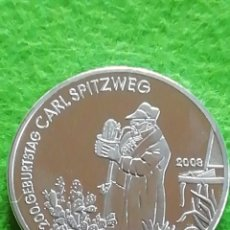 Medallas históricas: MONEDA MEDALLA. ALEMANIA 200 ANIVERSARIO DE CARL SPIZWES. UNIDAD Y DERECHO. NO FÉRREA. ENCAPSULADA. Lote 280845963