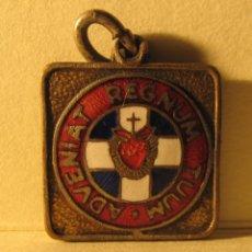 Medallas históricas: MEDALLA METÁLICA Y ESMALTADA. DETENTE ENEMIGO QUE EL CORAZÓN DE JESUS ESTÁ CONMIGO. GUERRA CIVIL.. Lote 283826798