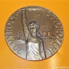 Medallas históricas: MEDALLA 20 ANIVERSARIO PRIMAVERA DE PRAGA. 1968 - 1988.. Lote 267516719