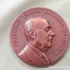 Medallas históricas: ANTIGUA MEDALLA PRIMER ANIVERSARIO FUNDACIÓN NACIONAL FRANCISCO FRANCO. 1976. Lote 286452043