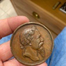 Medallas históricas: ANTIGUA MEDALLA CORONACIÓN DE ZORRILLA EN LA ALHAMBRA 1889. Lote 288163888