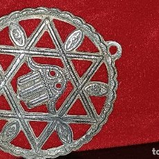 Medallas históricas: PRECIOSA Y ANTIGUA MEDALLA ARABE CON ESTRELLA DAVID 5 CMS. Lote 134940326