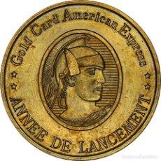 Medallas históricas: [#181361] FRANCIA, MEDALLA, LANCEMENT DE LA GOLD CARD AMERICAN EXPRESS, BANK, MBC+, BRONCE. Lote 289210588