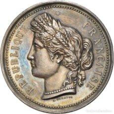 Medallas históricas: [#181349] FRANCIA, MEDALLA, MARIANNE, RÉPUBLIQUE FRANÇAISE, 1890, DESAIDE, EBC, PLATA. Lote 289211843