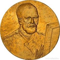 Medallas históricas: [#181312] FRANCIA, MEDALLA, PEINTURE, VAN GOGH, AUTO-PORTRAIT AU CHEVALET, FDC, BRONCE. Lote 289212398