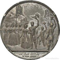 Medallas históricas: [#181342] FRANCIA, MEDALLA, VISIT OF QUEEN VICTORIA AND PRINCE ALBERT TO FRANCE, HISTORY. Lote 289212483