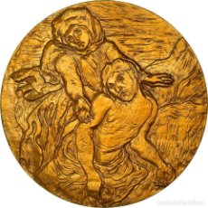 Medallas históricas: [#181316] FRANCIA, MEDALLA, PEINTURE, VAN GOGH, PIETA, ARTS & CULTURE, FDC, BRONCE DORADO. Lote 289212578