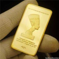 Medallas históricas: FANTÁSTICO LINGOTE HOMENAJE A CLEOPATRA. Lote 292080763
