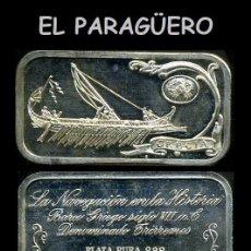 Medallas históricas: LINGOTE DE PLATA MACIZA Y PURA EDICION LIMITADA Y NUMERADA HOMENAJE AL BARCO GRIEGO-Nº54. Lote 293843663