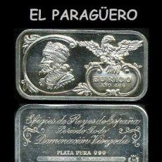 Medallas históricas: LINGOTE DE PLATA MACIZA EDICION LIMITADA HOMENAJE AL REY ESPAÑOL VISIGODO EURICO AÑO 466 -Nº65. Lote 293968673