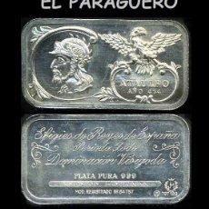 Medallas históricas: LINGOTE DE PLATA MACIZA EDICION LIMITADA HOMENAJE AL REY ESPAÑOL VISIGODO ATAULFO AÑO 414 -Nº66. Lote 293969123