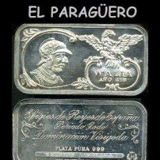 Medallas históricas: LINGOTE DE PLATA MACIZA EDICION LIMITADA HOMENAJE AL REY ESPAÑOL VISIGODO WALIA AÑO 416 -Nº67. Lote 293970048