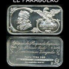 Medallas históricas: LINGOTE DE PLATA MACIZA EDICION LIMITADA HOMENAJE AL REY ESPAÑOL VISIGODO EURICO AÑO 466 -Nº74. Lote 293971598