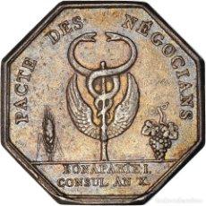 Medallas históricas: [#971305] FRANCIA, TOKEN, BANQUES, COMPTOIR COMMERCIAL, 1802, MBC, PLATA. Lote 295460438