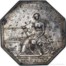 Medallas históricas: [#971316] FRANCIA, TOKEN, BANQUES, CAISSE D'ESCOMPTE, 1776, BRANCHE, MBC, PLATA. Lote 295460913