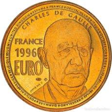 Medallas históricas: [#383259] FRANCIA, MEDALLA, CHARLES DE GAULLE, 1 EURO ESSAI, 1996, JIMENEZ, SC+, COPPER. Lote 295464003
