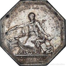 Medallas históricas: [#971319] FRANCIA, TOKEN, BANQUES, CAISSE D'ESCOMPTE, 1776, LORTHIOR, BC+, PLATA. Lote 295464678