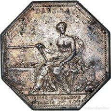 Medallas históricas: [#971318] FRANCIA, TOKEN, BANQUES, CAISSE D'ESCOMPTE, 1776, BRANCHE, MBC+, PLATA. Lote 295464938