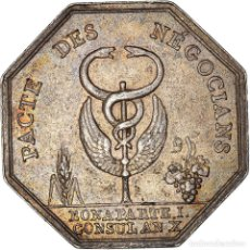 Medallas históricas: [#971300] FRANCIA, TOKEN, BANQUES, COMPTOIR COMMERCIAL, 1802, MBC+, PLATA. Lote 295465113