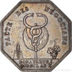 Medallas históricas: [#971299] FRANCIA, TOKEN, BANQUES, COMPTOIR COMMERCIAL, 1802, MBC+, PLATA. Lote 295465373