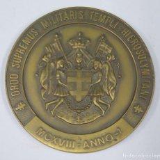 Medallas históricas: MEDALLA. ORDO SUPREMUS MILITARIS TEMPLI HIEROSOLYMILITANI. MCXVIII - ANNO-1. Lote 295742533