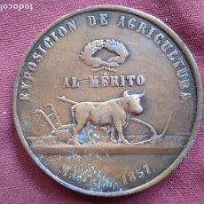 Medallas históricas: MEDALLA 1857 ISABEL II EXPOSICIÓN DE AGRICULTURA. Lote 296006143