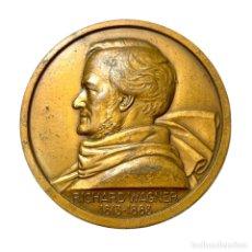 Medallas históricas: MEDALLA EN BRONCE DE RICHAR WAGNER POR LUCIEN BAZOR. Lote 296791808