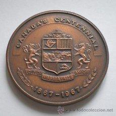 Medallas temáticas: MEDALLA CANADA SALTOS NIAGARA 1867 – 1967 .. CANADA´S CENTENAL . Lote 16503022