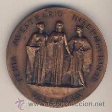 Medallas temáticas: FERIA VALENCIA-XXV BODAS DE PLATA COMO EXPOSITOR FERIA MUESTRARIO MEDALLA BRONCE -. Lote 22113612