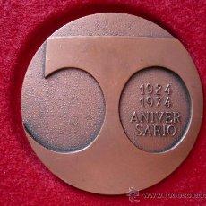 Medallas temáticas: MEDALLA 50 ANIVERSARIO CIRCULO FILATELICO Y NUMISMATICO, BARCELONA 1924 -1974, FIRMADA VALLMITJANA . Lote 14345120