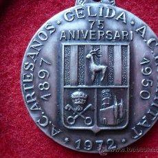 Medallas temáticas: MEDALLA 75 ANIVERSARI ARTESANOS GELIDA 1897/1950. Lote 14744055
