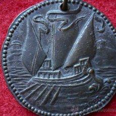 Medallas temáticas: MEDALLA REGATA DE VETERANO, CLUB NAUTICO TARRAGONA, 1955, FIRMA VALLMITJANA.. Lote 30706620