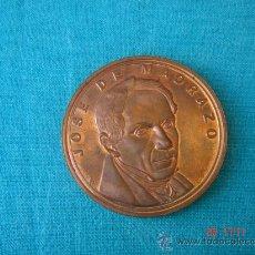 Medallas temáticas: MONEDA DE BRONCE O COBRE DE JOSÉ MADRAZO. FECHADA EN OCTUBRE-DICIEMBRE DE 1990. 4 CMS DE DIÁMETRO.. Lote 27159743