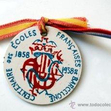 Medallas temáticas: MEDALLA CENTENAIRE ÉCOLES FRANÇAISES BARCELONE - 1858 - 1958. Lote 27058978