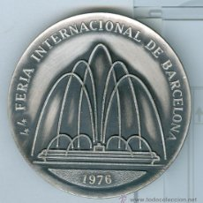Medallas temáticas: 44 FERIA INTERNACIONAL DE BARCELONA. AÑO 1976. MEDALLA METÁLICA CONMEMORATIVA. . Lote 27063435