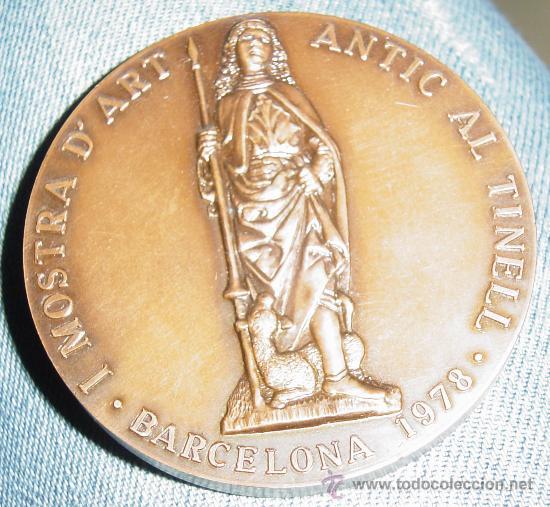 MEDALLA DE ANTIQUARIOS Y LIBRETEROS I NUMISMATICOS (BARRIO GOTICO) BARCELONA (Numismática - Medallería - Temática)