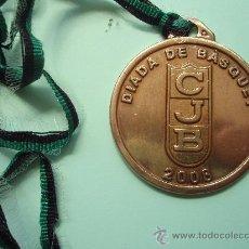Medallas temáticas: MEDALLA DE LA DIADA DE BASQUET DEL JUVENTUD DE BADALONA DE 2.008. Lote 27566212