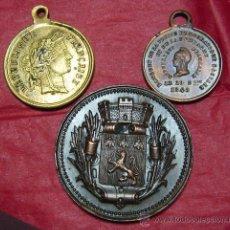 Medallas temáticas - Lote 3 medallas Francesas final del XIX - 22545093
