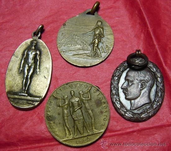 LOTE DE 4 MEDALLAS Á CLASIFICAR. (Numismática - Medallería - Temática)