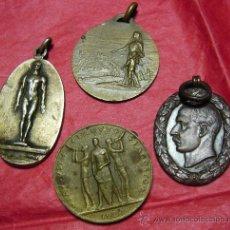 Medallas temáticas: LOTE DE 4 MEDALLAS Á CLASIFICAR.. Lote 22545469