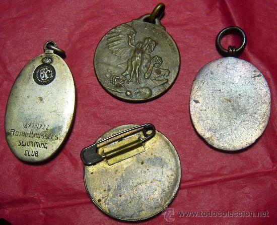 Medallas temáticas: Lote de 4 medallas á clasificar. - Foto 2 - 22545469