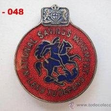 Medallas temáticas: MEDALLA - INSIGNIA ESMALTADA BRITÁNICA DE SAN JORGE ( 3 ). ENVÍO CERTIFICADO GRATUITO.. Lote 27238534