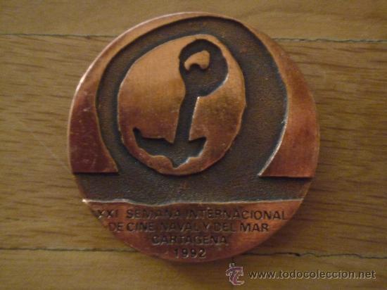 Medallas temáticas: LOTE 4 MEDALLAS DE SEMANA INTERNACIONAL DEL CINE NAVAL Y DEL MAR DE CARTAGENA - Foto 2 - 24640346