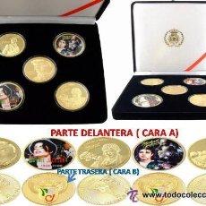 Medallas temáticas: MICHAEL JACKSON ESTUCHE CON 5 MONEDAS CONMEMORATIVAS, 1958-2009, 24 KILATES. Lote 24771622