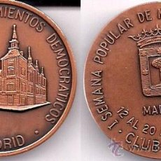 Medallas temáticas: MEDALLA CONMEMORATIVA DE LA I SEMANA POPULAR DE NUMISMÁTICA Y FILATELIA - ABRIL 1980. Lote 26378810
